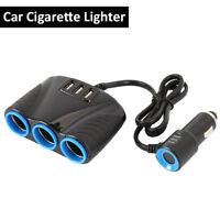 3 way Cigarette Lighter Socket Splitter Dual USB Charger Power Adapter Car