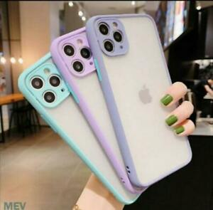 Bumper Case For iPhone 12 11 Pro Max SE XR XS Shockproof Hard Back Phone Cover