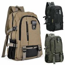 Мужской холщовый крупный рюкзак или ранец работы спорт путешествия пешие прогулки колледж школа сумка