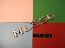 GENUINE MERCEDES BENZ M-CLASS ML 350 CHROME PLASTIC REAR BADGE EMBLEM. 25mm TALL