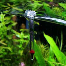 Glass Meter Aquarium Fish Tank Water Temperature Thermometer With Suction Cup