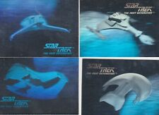 1992 STAR TREK THE NEXT GENERATION HOLOGRAM TRADING CARD SET 01H-04H