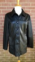 Women's The Limited Black Leather Belted Jacket  Coat Size M