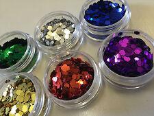 Glitterexpress Festival Glitters for Hair, Face, Body Art 6 pots + Body Glue