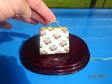 Trinket Box Handbag Purse Porceleon Flower Keepsake Holder Ceramic