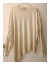 Womens Designer Stella MaCartney White Silk Wool Top Size 44 IT 12 AUS LARGE
