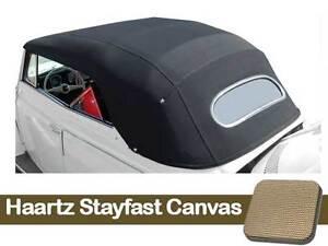 1967-1972 VW Super Beetle Convertible Top Haartz Stayfast Canvas