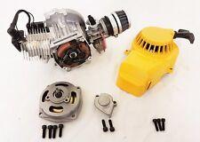 49CC MINI MOTO MINI QUAD BIKE ENGINE & CARB AIR FILTER HEAD YELLOW PULL START