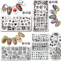 春の歌 Nail Art Stamping Plate Image Template Acrylic Tips Decor Collection Tool