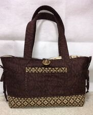 Handmade Brown and Beige Purse Handbag