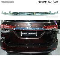 For New Toyota Fortuner 2016 2017 Genuine Parts Chrome Line Strip Tailgate Trim