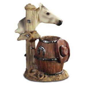 Pferdekopf Stiftehalter mit Cowboyhut