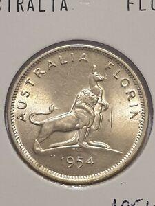 1954 australian royal visit florin coin mc78