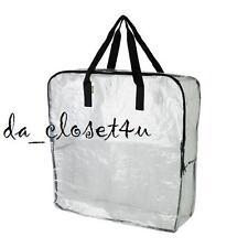 IKEA DIMPA Bag Clear Heavy duty STORAGE BAG w/ zipper Reusable Shopping Strong