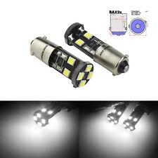 paire 8 SMD LED Blanc CANBUS H6W BAX9s Ampoules Veilleuse position Feu de recul