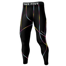 Take Five Mens Skin Tight Compression Base Layer Running Pants Leggings NP540