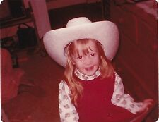 Old Vintage Photograph Adorable Little Girl Wearing Cowboy Hat