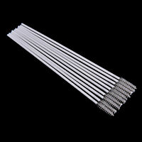New 10pcs Stainless Steel Straw Reusable Washable Cleaner Cleaning Brush H&T