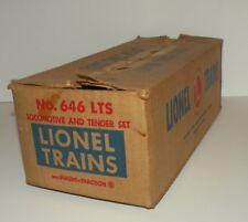 LIONEL 646 LTS ENGINE & TENDER MASTER CARTON ONLY, SCARCE, ORIGINAL