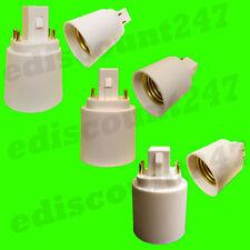 G24/GX24 to E27 - 2 PIN OR 4 PIN Adaptor LED Converter Lamp Holder UK SELLER.