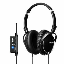 ACTIVE 85% Noise Cancelling Headphones (Black) + carry bag + airline adapter
