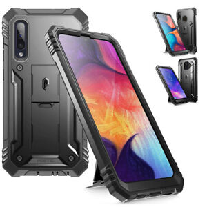 For Galaxy A50 / A20 / A6 Phone Case with Screen Protector Shockproof Cover