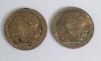 2x Münze Deutsches Reich , 5 Reichs mark, 1847-1934 Paul von Hindenburg