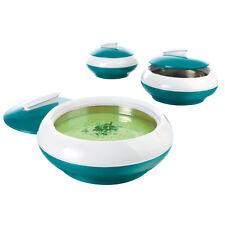 maxxcuisine Thermoschüsseln Warmhaltebehälter Thermobehälter smaragdgrün 3er Set