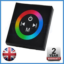 Negro Multi función RGB controlador de montaje en pared para RGB LED Tira 5050 2835