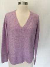 J.Crew V-Neck Sweater In Supersoft Yarn Purple Pink Size M Medium H3911