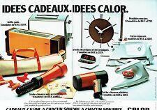 PUBLICITE ADVERTISING 027  1987  les idées cadeaux Calor ( 2p)  fer repasser