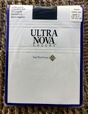 Vintage ultra Nova Ultra Sheer Contrôle Pour Femme Bleu Marine Collants/Collants, grand, Bnwt