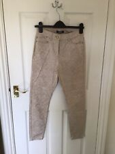 M&S STONE PATTERNED JEGGINGS SIZE 10