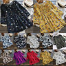 Womens Summer Boho Short Sleeve Casual Loose Tunic Top T Shirt Holiday Plus Size