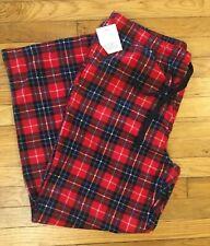 NWT * CROFT BARROW Intimates PLAID Soft FLEECE Pajama Lounge Pants Men's sz XL