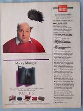 1990 Magazine Advertisement Page For Rolfs Mens Womens Wallets Billfolds Ad