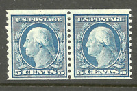 1917 US #496 MNH  ~ Horizontal Coil  Pair [Perforated 10 Vertically]