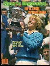 Sports Illustrated 1984 French Open Champion Martina Navratilova No Lb Excellent