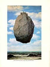 """1974 Vintage MAGRITTE """"CASTLE IN THE PYRENEES"""" CHATEAU COLOR offset Lithograph"""