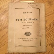 P&H Harnischfeger MODEL 10-30 TRENCHER PARTS MANUAL BOOK CATALOG GUIDE LIST
