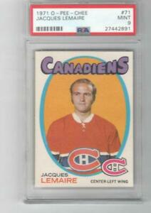 1971 OPC O-Pee-Chee PSA 9 MINT Jacques Lemaire # 71 Montreal Canadiens