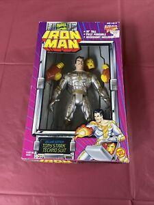 "1995 Toy Biz IRON MAN 10"" TALL TONY STARK FIGURE TECHNO SUIT NEW"