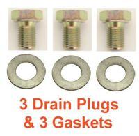 "(3) 12mm 1.50 11/16"" Hex Drain Plug RPL BMW 11131250089 & (3) Aluminum Gaskets"