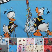Licensed Disney Cartoon Marvel DC Comic Character 100% Cotton Curtain Fabric