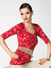 WOLFORD NAHLA SHIRT in Gerdenia/Red Size: Large L Ret: $325 New Boxed & w/Tags