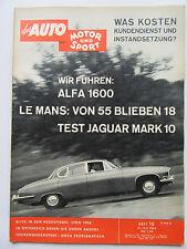 Auto Motor Sport 15/1962, Test Jaguar Mark 10, Alfa 1600, Lyon 1908