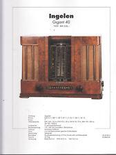 Schaltplan Ingelen Gigant 40 / Rundfunkmuseum
