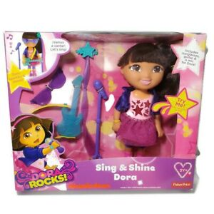 Sing & Shine Dora Fisher-Price Dora Rocks Nickelodeon 2013 NIB Sealed Gift Toy