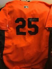 Baltimore Orioles prospect D.J Stewart  signed game used Keys jersey
