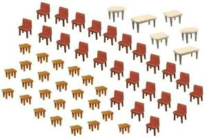 Faller HO Scale Scenery Accessory Kit 7 Tables and 48 Chairs